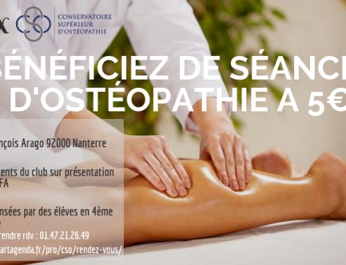 Partenariat avec le Conservatoire Supérieur d'Ostéopathie de Paris