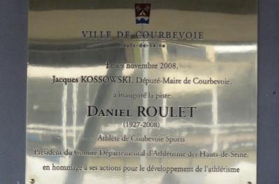 Inauguration de la piste : Daniel ROULET
